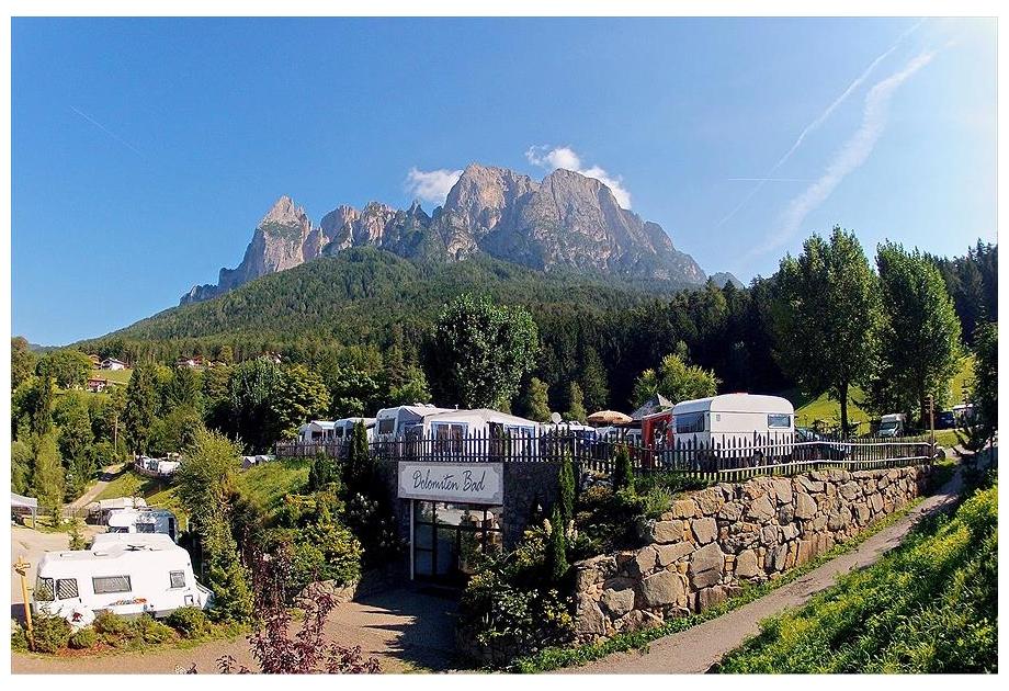 Campsite Seiser Alm, Fie allo Sciliar - Voels am Schlern,Dolomites,Italy