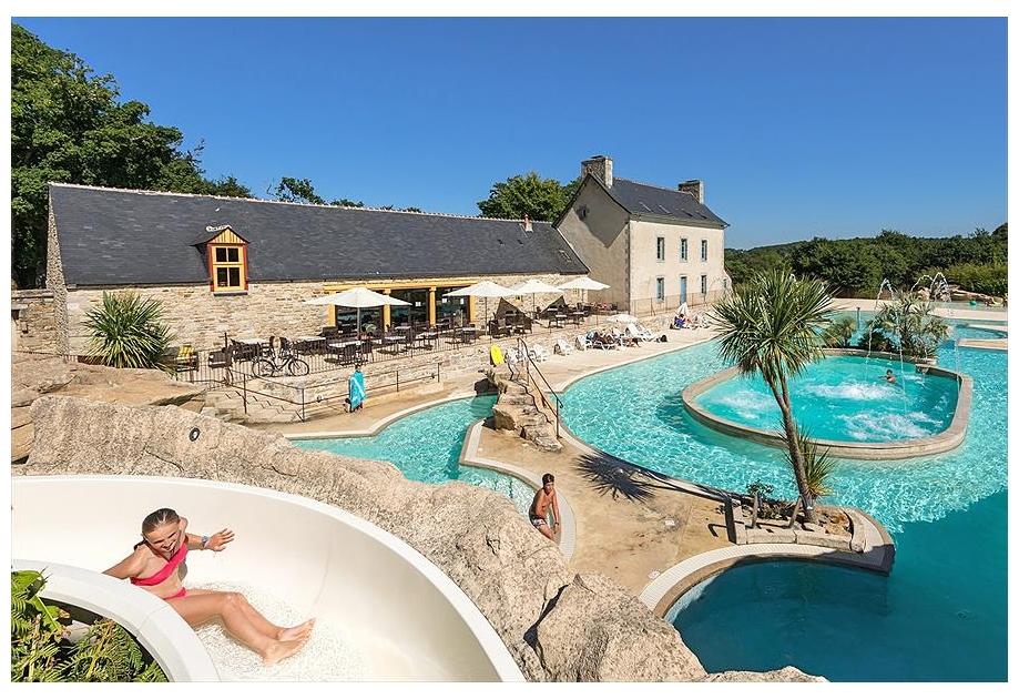 Campsite Domaine de L'Orangerie de Lanniron, Quimper,Brittany,France