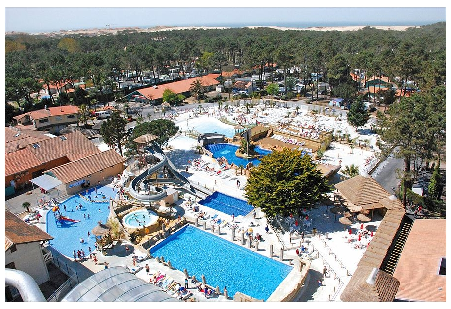 Camp. Village Resort & Spa Le Vieux Port, Messanges,Vendee,France
